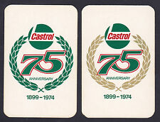 2 Castrol 75 Anniversary 1899-1974 Swap/Playing 2 Single Card