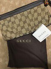 BNWT AUTHENTIC Gucci Women's Original GG Canvas Wristlet (includes Dust Bag)