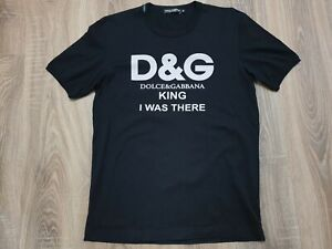 DOLCE & Gabbana KING I Was There Made in Italy T-Shirt  Size M