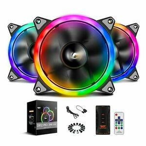 3-Pack darkFlash DR12 PRO 3in1 Kits RGB LED 120mm Computer Case Cooling Fans