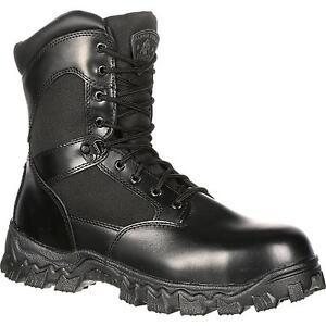 Rocky Alphaforce Mens Waterproof Side Zip Soft Toe actical Boots FQ0002173