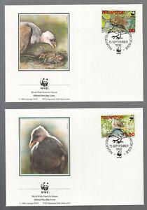 WWF Tonga Niuafo'ou 1992 on 4 beautiful FDC - Niuafo'ou Megapode, Bird