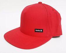 HURLEY RIPSTOP 110 SNAPBACK Hat Red OSFA ($27) NEW Skate Ski CAP Classic RARE