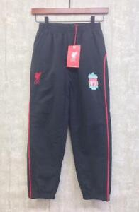 New Boys Liverpool FC Tracksuit Bottoms 8-9 Black Track Pants Joggers Trousers