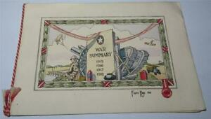WW1 CHRISTMAS CARD ILLUSTRATED BY FRANK RAY 1918       820