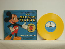 Walt Disney's Mr. Mickey Mouse/ Mickey's New Car, Golden RD7, 1950's, 45 RPM, 7""