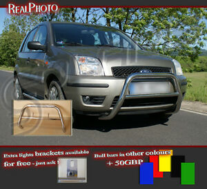 FORD FUSION 2002-2005 LOW BULL BAR WITHOUT AXLE BARS / STAINLESS STEEL