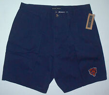 New NWT Mens 36 Nike Golf Chicago Bears Pleated Navy Blue Cotton Shorts