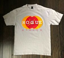 Rogue Status Smiley / Frowny Face Graphic T-shirt Size Medium