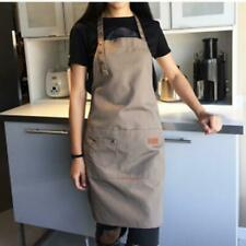 Sleeveless Canvas Apron Work Clothes Waterproof Restaurant Catering Pinafore N3