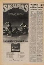 Sassafras UK Tour advert 1976