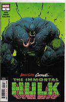ABSOLUTE CARNAGE/IMMORTAL HULK #1 (2ND PRINT VARIANT) COMIC BOOK ~ Marvel