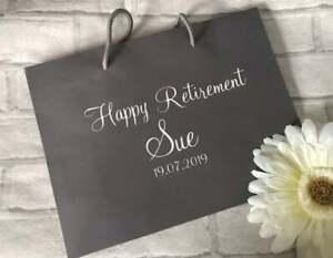 Personalised Retirement Gift Bag, Retirement Gift Bag, Sorry You're Leaving
