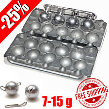 Fishing Sinker Aluminum Mold -25% DIY Do It Lead Round Jig Sport Ball 7-15 g