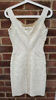herve leger  alabaster bandage dress size xs