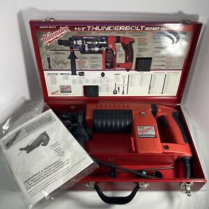 "MILWAUKEE THUNDERBOLT SPLINE ROTARY HAMMER DRILL CAT. 5311 1-1/2"" W/CASE"