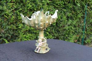 Zierschale Porzellan Schale Engel Seifenschale Antik Muschel.