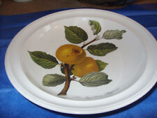 "PORTMEIRION POMONA INGESTRIE PIPPIN APPLE 8.5"" RIMMED SOUP PLATE GOOD+ BUYITNOW!"