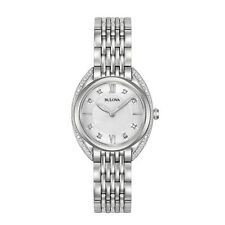 Bulova #96R212 Woman's Diamond Stainless Steel Watch