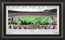 WEST COAST EAGLES AFL SIGNED 2018 PREMIERS PRINT FRAMED - PANORAMIC PRINT