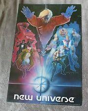 New Universe 1986 Bill Sienkiewicz Painted Art Gruenwald Marvel Poster FN