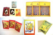 200 PAPER INDIA GREETING CARDS BLANK INSIDE 36 CARD AND ENVELOPES:   200+CARDS