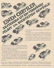 J1129 Automobili CHRYSLER Company - Pubblicità grande formato - 1927 Old advert