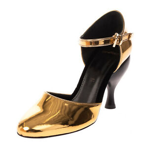 RRP €150 TIPE E TACCHI D'Orsay Shoes Size 37 UK 4 US 7 Metallic Made in Italy