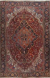Antique Vegetable Dye Heriz Serapi Area Rug Palace Size Handmade Oriental 12x16