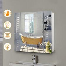 Bathroom Led Mirror Cabinet with Shaver Socket/Sensor Switch/Demister Pad