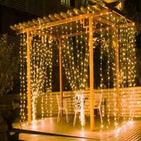 300 LED Fairy String Lights Curtain Window Hanging Wedding Decor + Controller