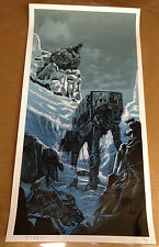 Tim Doyle THE BIG BATTLE UnReal Estate: Star Wars Hoth Movie Print LE #80 of 400