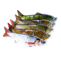 Multi Jointed Fishing Hard Lures Bait Swimbait Life-like Bluegill Sinking Bass