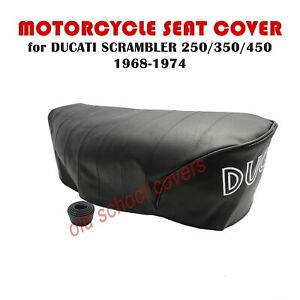 MOTORCYCLE SEAT COVER DUCATI SCRAMBLER 250 350 450 1968-1974 WITH SEAT STRAP