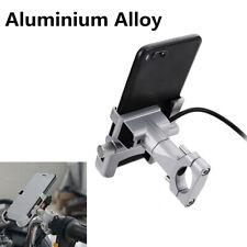 Motorcycle Phone Holder Handlebar Bracket USB Charger For 4-6 inch Phone Holder