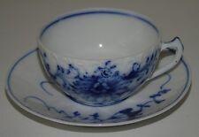 Berlin - Belle tasse à café en porcelaine à décor de fleurs en camaïeu bleu