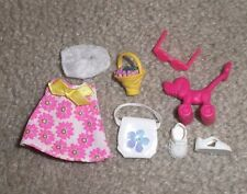 BARBIE DOLL CLOTHES - KELLY PINK FLOWER PRINT DRESS w/ SHOES & PANTIES