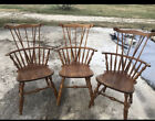 Vintage wood dining chairs Lot Of 3 Chairs