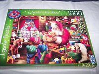 Santa's Toy Shop 1000 Piece Deluxe Jigsaw Puzzle by FX Schmid