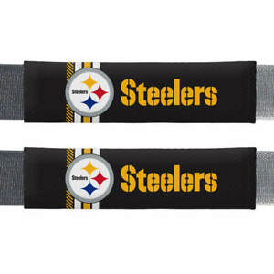Pittsburgh Steelers Rally Design Seat Belt Shoulder Pad Covers Premium 2 Pack