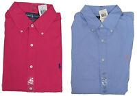 Polo Ralph Lauren Mens Striped Custom Fit Button Long Sleeve Pony Logo Shirt New