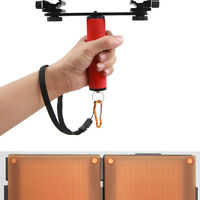 Dual Flash Bracket Mount Holder 1/4 Screw for Tripod DSLR Light Stand Camera