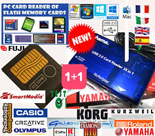 Fuji 32MB M SMARTMEDIA CARD+Lettore READER Memoria-Carte Mémoire-Yamaha-All KORG