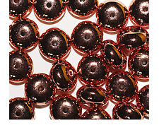 Rondel Spacer 6x10mm Shiny Bright Copper Metalized Metallic Beads