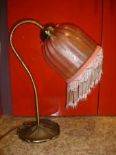 BRIDGE BRASS LAMP W/ETCHED BEADS LAMP SHADE #2