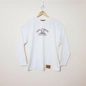 John Deere Mens 2XL XXL White Long Sleeve Crew Neck Shirt