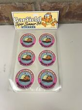 Garfield Super Summer '84 Sleep Marathon Sticker Vintage New Dead Stock