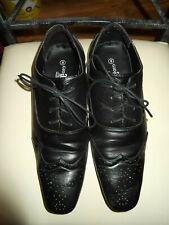 mens gio gino uk 8 black formal brogue shoes.