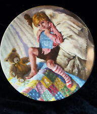 Collector Plate Diddle Dumpling Mother Goose #6 Reco International Bradford Coa