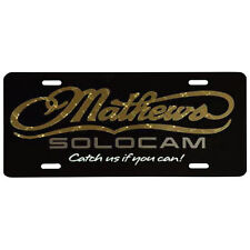 "Mathews decals license plate legal size 6"" x 12"""